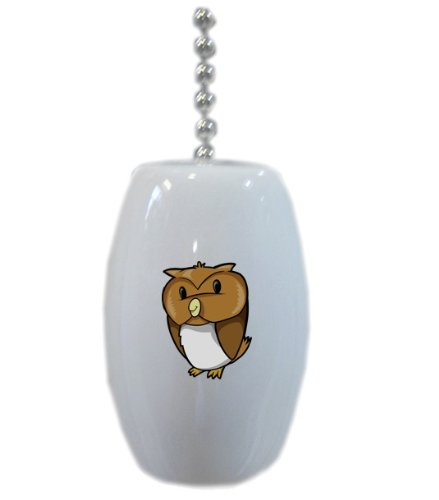 Baby Owl Animal Ceramic Fan Pull front-440453