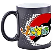 "ASNS Online Services ""Pokemon Theme Characters"" Printed Black Ceramic Mug"