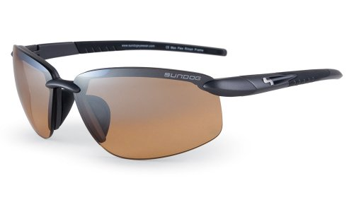 Sundog Bomb Sunglasses with Black Frame and Gradient Brown Lens