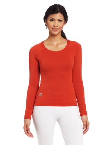66 North Women'S Grettir Long Sleeve Tee, X-Large, Scarlet