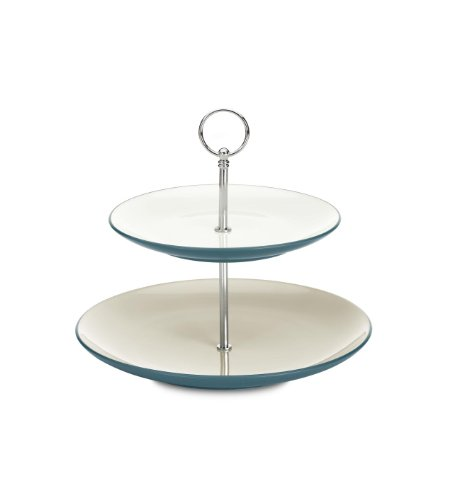 Noritake Colorwave 2-Tier Hostess Tray, Turquoise Blue