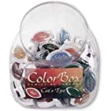 Colorbox Pigment Cat's Eye 72 Piece Jar Display-3 Each Of 24 Top Colors