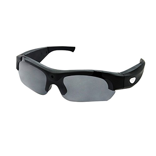1080P Camera Sunglasses OldShark Sport Video DVR Eyewear Recorder Photo Taking with 8G Memory Card and 1 Pair Transparent Lens Black (Picture Taking compare prices)