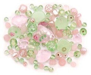 DRESS IT UP BEADS VARIETY PACK 28 GRAMS/PKG-PINK PARFAIT