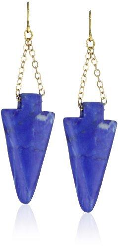 K. Amato Arrowhead Chain Earrings