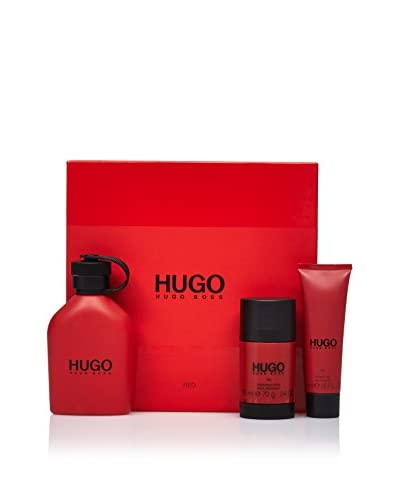 Hugo Boss Estuche Fragancia Edt Red 125 ml + Desodorante Stick 75 ml + Gel 50 ml