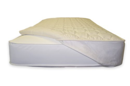 Naturepedic PC93 Non Waterproof Organic Cotton Deluxe Crib Mattress Pad