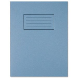 Silvine Exercise Book Ruled and Margin 80 Pages 229x178mm Blue Ref EX104 (Pack of 10)