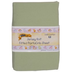 Kids Line Jersey Knit Fitted Porta Crib Sheet - Sage