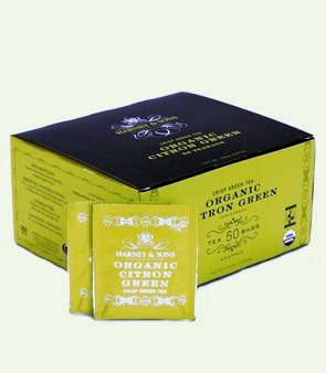 Harney And Sons Organic Citron Green, Flavored Green 50 Teabags Per Box