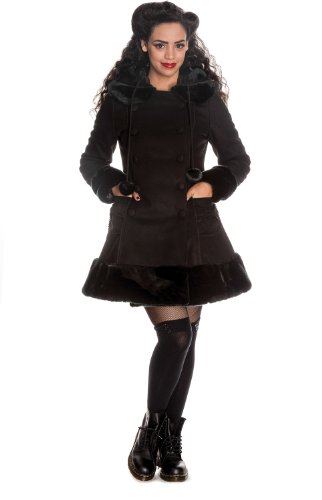 Hell Bunny Nero Sarah Jane Coat Black 46