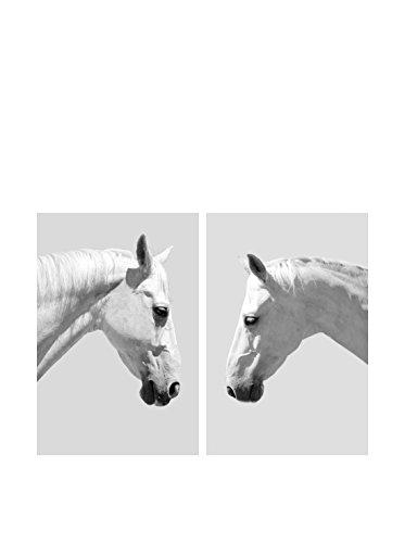 Art Addiction White Horses I Set of 2, Multi, 36