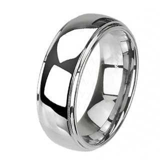 8MM Tungsten 2 Tier Band with Shinny Finish