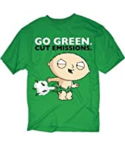 Family Guy Stewie Go Green T Shirt