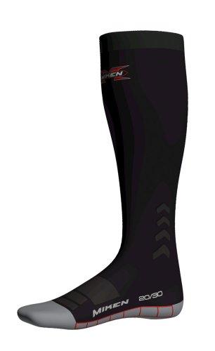 Miken VO2FX Peformance Compression Sock (Black, Large)