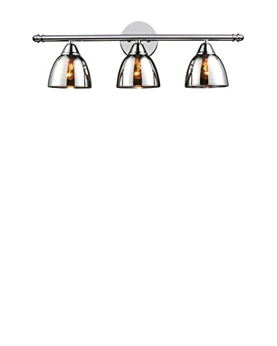 Artistic Lighting Reflections 3-Light Bath Bar, Polished Chrome