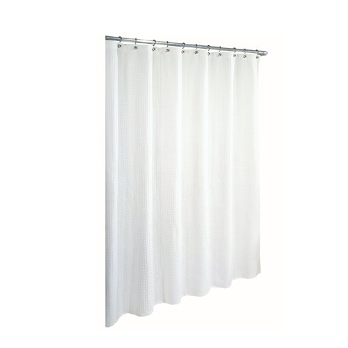 Ex-Cell Home Fashions By Appointment Waffle Weave Cotton Shower Curtain, White (White Cotton Shower Curtain compare prices)