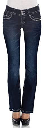 WallFlower Juniors Luscious Curvy Bootcut Jeans in Bridgit Size: 0