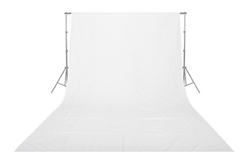 Emart Backdrops 10x20' White Pure Muslin 100% Cotton Collapsible Backdrop Background for Photography,Video and Televison (Background ONLY) (Photography Backdrop Starter Kit compare prices)