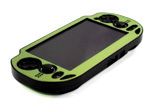 Cosmos ® Green Aluminum Metallic Protection Hard Case Cover For Playstation Ps Vita & Cosmos Brand Lcd Touch Screen Cleaning Cloth