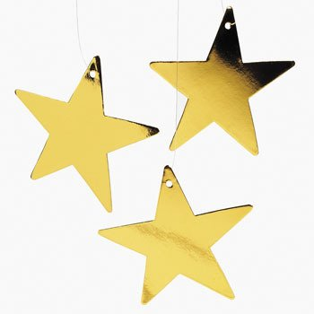Gold Twinkling Stars - Office Fun & Business Supplies