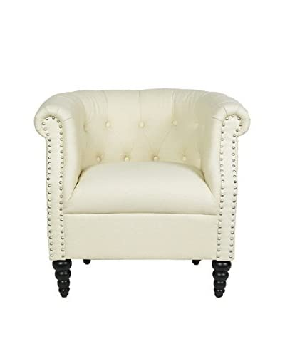 Jennifer Taylor Home Loren Arm Chair, Off-White