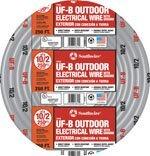 Southwire Underground Feeder Wire 10 Ga, 2 Conductor 30 Amp 600 V 90Degc 250' Gray