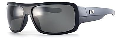 Sundog Madd Frame with Polarized Lens, Matte Black with Polarized Smoke