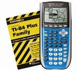 Texas Instruments TI 84 Plus Silver graphing calculator with CliffsNotes- Bright Blue
