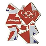 Union Jack Metal Fridge Magnet Official London 2012 Olympic Memorabilia Gift + Free Two London 2012 Official Keyrings : Tennis & Football Keyrings - Tennis Keychain & Football Keychain , London 2012 Keychain - Only 2 in Stock
