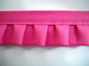 10 Yds Bright Pink Box Pleat Quilt Binding 1 3/8 Inch