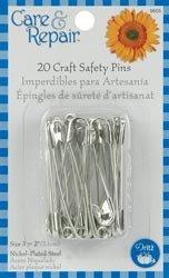 Dritz Craft Safety Pins Size 3 20/Pkg 9605D; 6 Items/Order