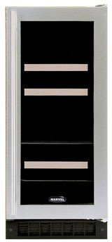 Luxury 5 Bottle Dual Zone Thermoelectric Built-in Wine Refrigerator Finish: Black, Hinge Location: Right