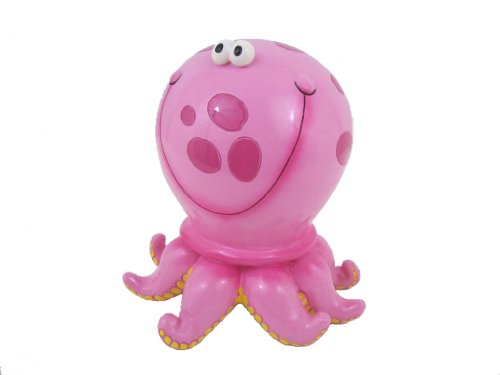 Pink Polka Dot Octopus Savings Money Bank Piggy - 1