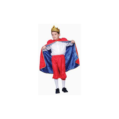 Pretend Deluxe Royal King (Red) Child Costume Dress-Up Set Size 16-18