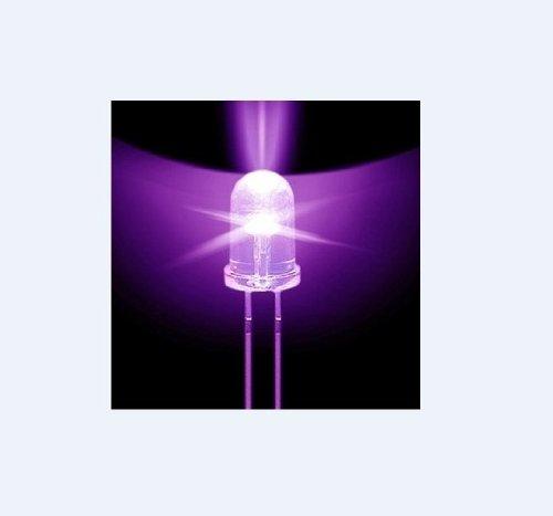 50 Pcs 2Pin Uv Led Uminous Diode Emitting 5Mm Purple Sterilization Round Lamp