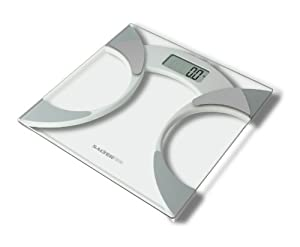 Salter 9141 WH3R Glass Body Fat Analyser Bathroom Scale