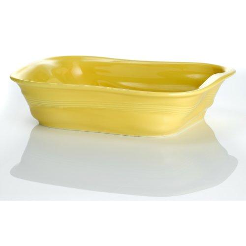 Revol 644785 Froisses Crumple Roasting Dish, Seychelles Yellow