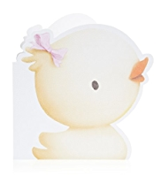 Duck Baby Girl Birthday Card