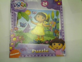 Cheap Nick Dora the Explorer 24-Piece Jigsaw Puzzle, Dora with Flowers (B002YK6RKG)