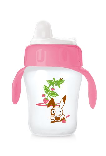 Philips AVENT Decorated Training Cup 260 ml (Pink, 12 Months and above )