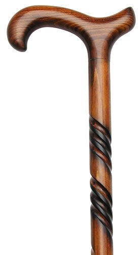 Men Derby Cane Scorched Cherry -Affordable Gift!