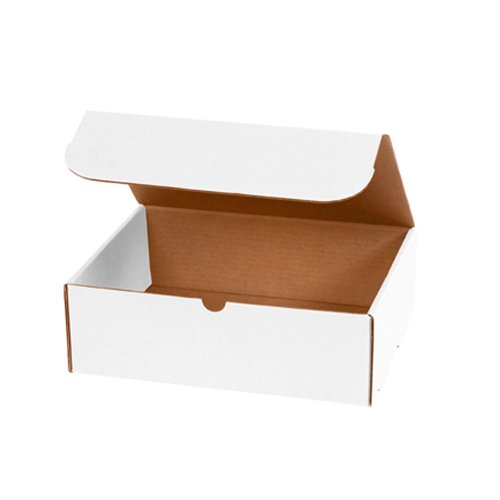 """Aviditi M1294 Corrugated Literature Mailer, 12-1/8"""" Length x 9-1/4"""" Width x 4"""" Height, Oyster White (Bundle of 50)"""