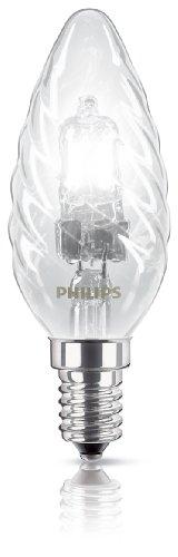 Philips 82066900 ECOCLASSIC30 KZL TW.18W E14 K Energiesparende Hochvolt-Halogen Kerzenlampe klar