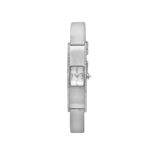 Milus Women's ERI013 Eridana Grey Strap Mother-of-Pearl Dial Watch