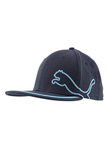 Puma-Cappello da Golf Flat Brim Blu blu navy Taglia unica