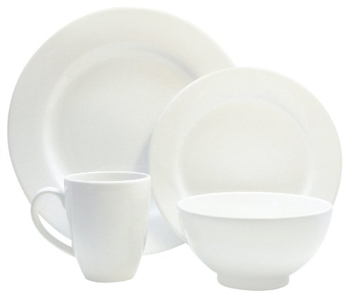 Waechtersbach Fun Factory II White 16-Piece Dinnerware Set, Service for 4