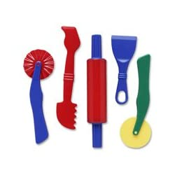[Best price] Arts & Crafts - Dough Tools - 5 Piece Assortment - toys-games
