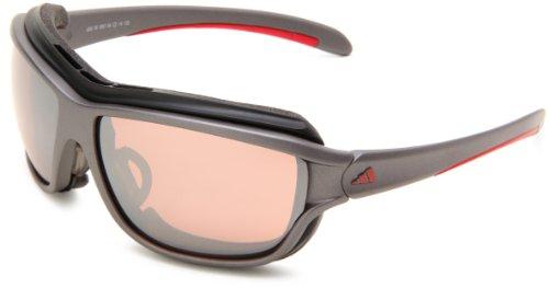 Herren Sonnenbrille adidas Sport eyewear Terrex Fast darkgrey red