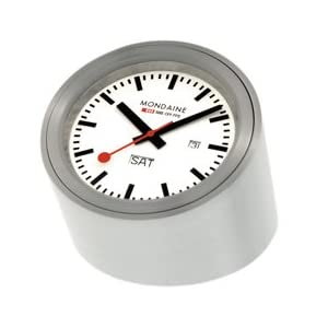 Mondaine A667.TUBE.80SBB Desk Clock White Dial Tube Case